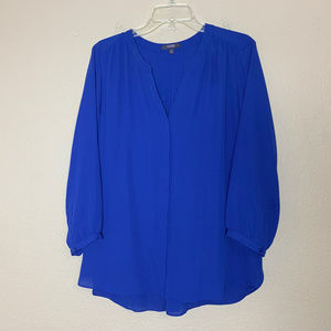 NYDJ Blue Tunic Top Not Your Daughter's Jeans